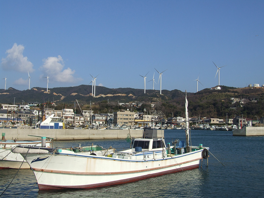⑦:丸山漁港から