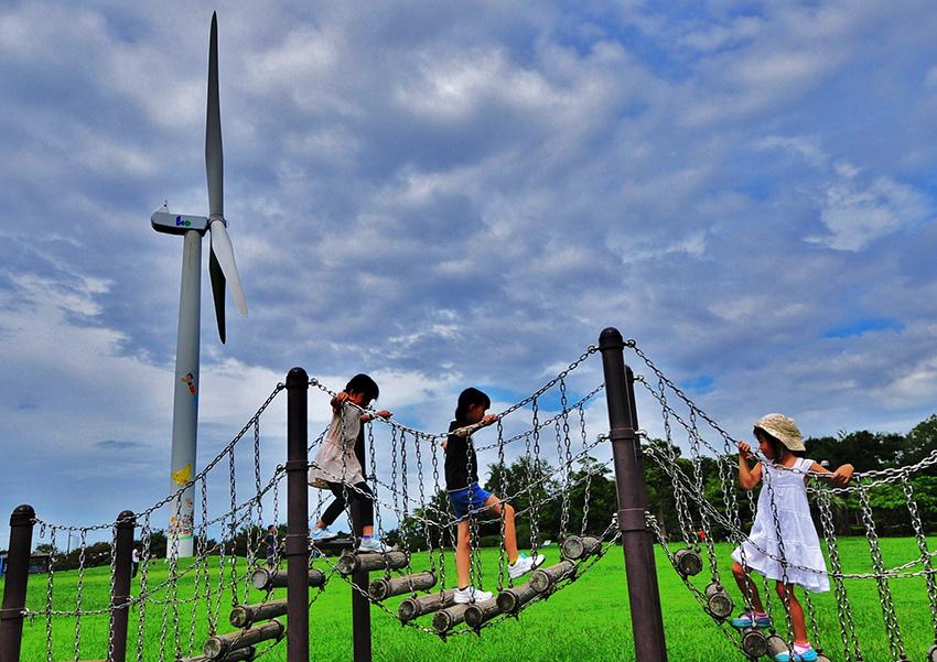 ⑦:風車と一緒に 小池 基夫 撮影場所:東京都江東区・若洲海浜公園