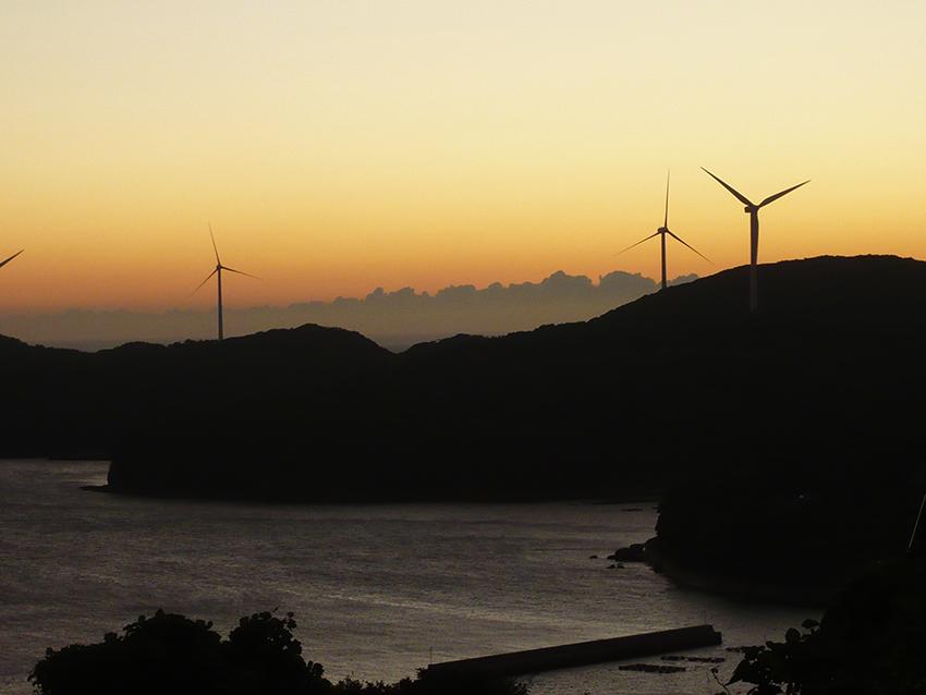 ⑤:夕日とともに 冨元 嘉奈 長崎県平戸市大島村
