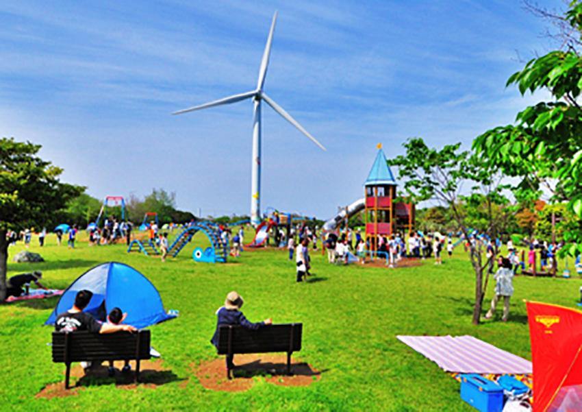 ⑥:春の公園風景 小池 基夫 撮影場所:東京都江東区・若洲海浜公園