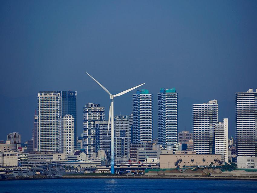 ④:風車のある都市 貝谷 紀和 撮影場所:神奈川県横浜市