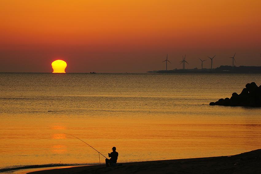 ⑦:凪の朝 真砂 昇平 撮影場所:鳥取県米子市