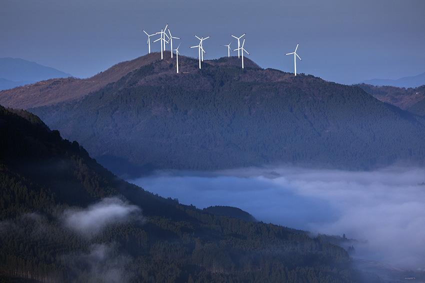 ⑫:冷え込んだ朝 長 吉秀 撮影場所:大分県玖珠町