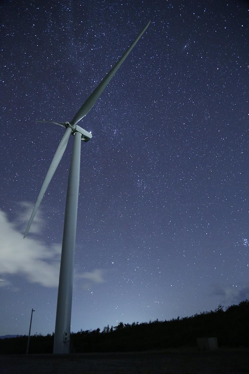 ⑩:夜空と輝く 河本 高広 撮影場所:秋田県八峰町