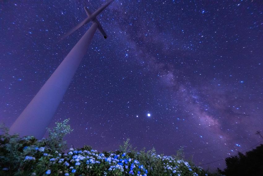 ①:夏の夜風  撮影場所:徳島県名東郡佐那河内村