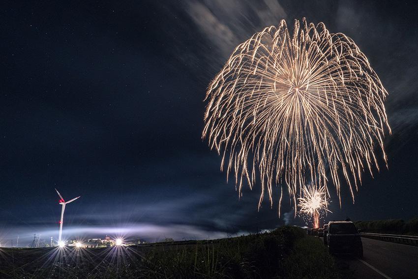 ③:夏の夜  撮影場所:熊本県阿蘇郡産山村